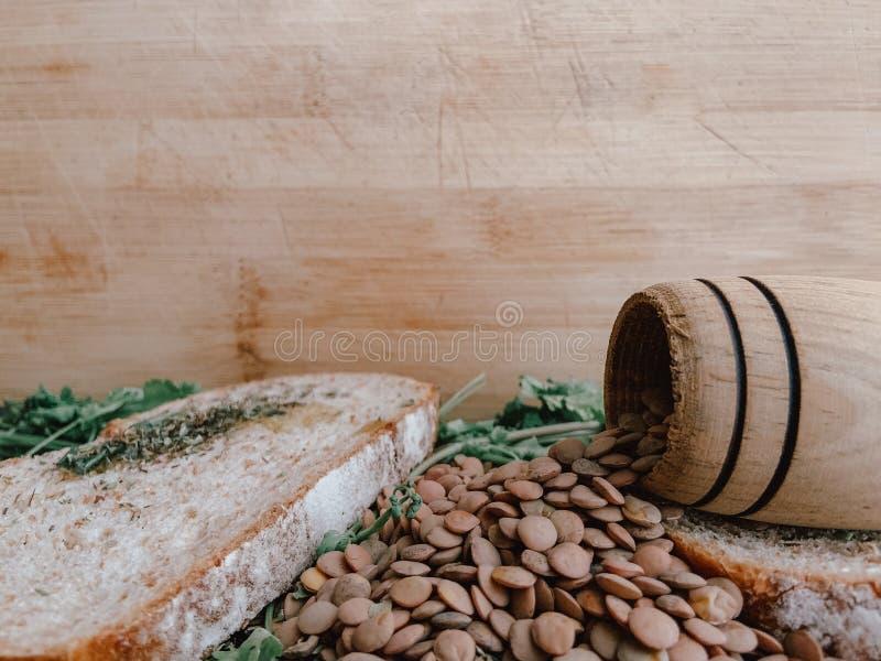 Gezond Voedsel voor Writte binnen Restaurantbanner Veganistvoedsel stock fotografie