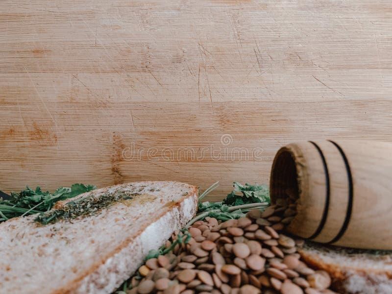 Gezond Voedsel voor Writte binnen Restaurantbanner Veganistvoedsel royalty-vrije stock foto's