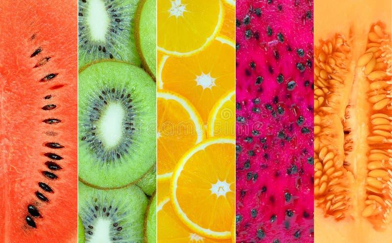 Gezonde fruitachtergrond stock fotografie