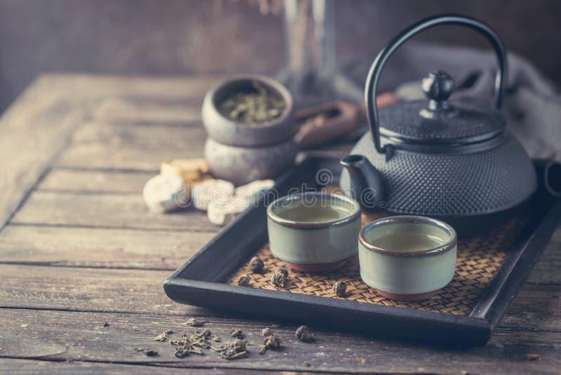 Gezonde groene thee stock foto's