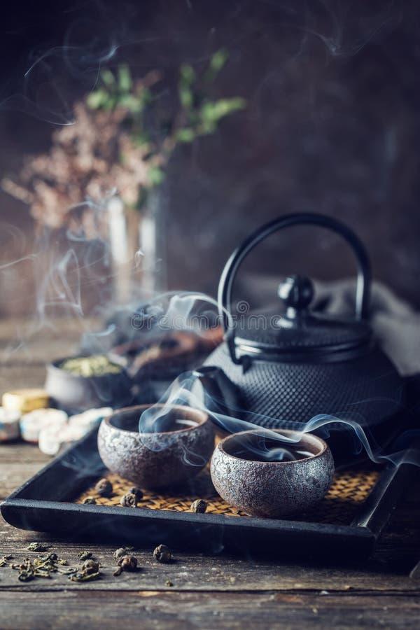 Gezonde groene thee stock foto