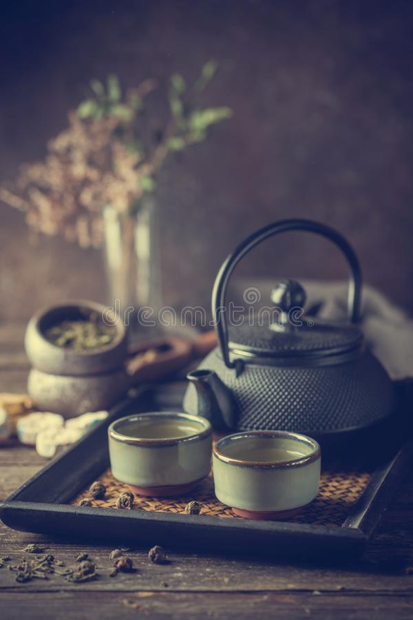 Gezonde groene thee stock afbeeldingen