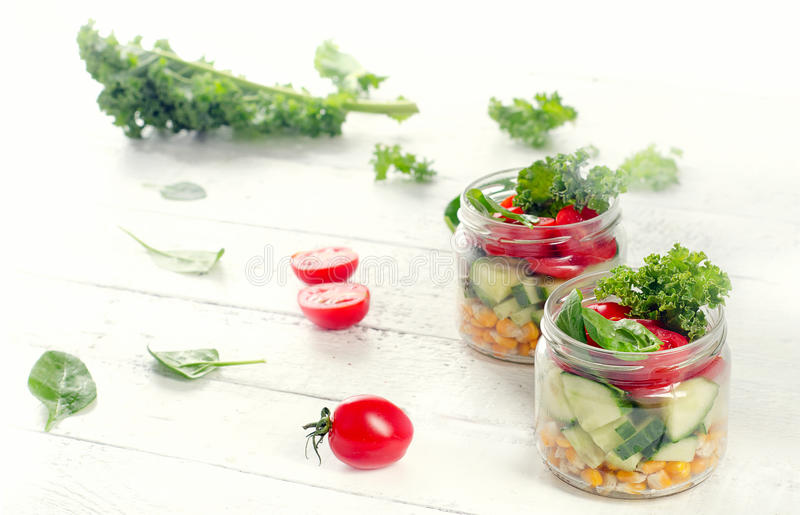 Gezonde groentensalade royalty-vrije stock fotografie