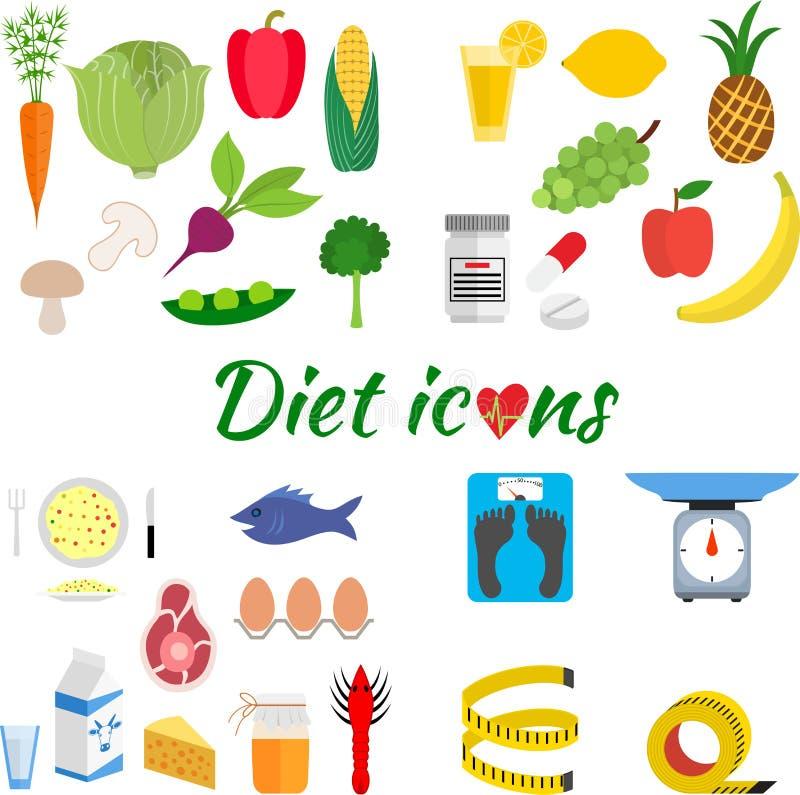 Gezonde levensstijl, een gezonde voeding en dagelijks vector illustratie
