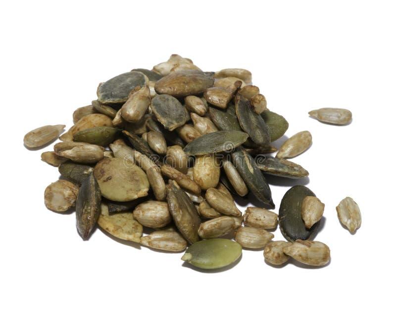 Gezonde noten en zaden royalty-vrije stock afbeelding