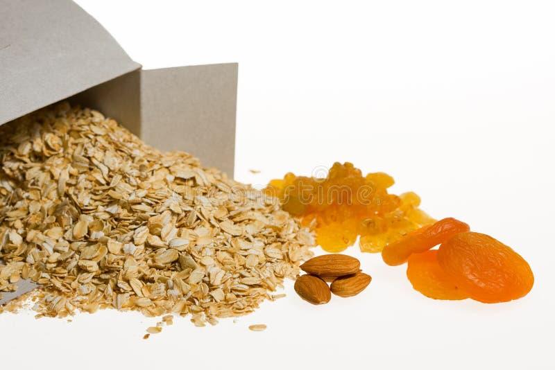 Gezonde ontbijt organische ingrediënten stock foto's