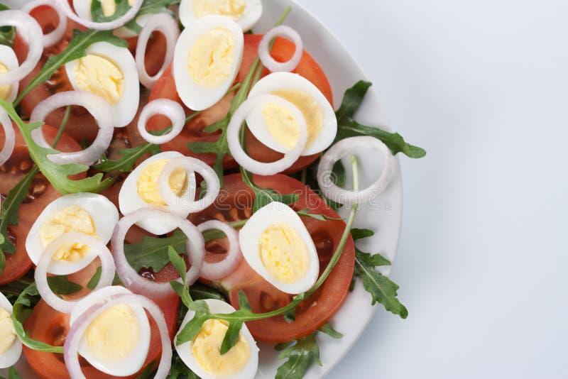Gezonde salade met eieren royalty-vrije stock foto's