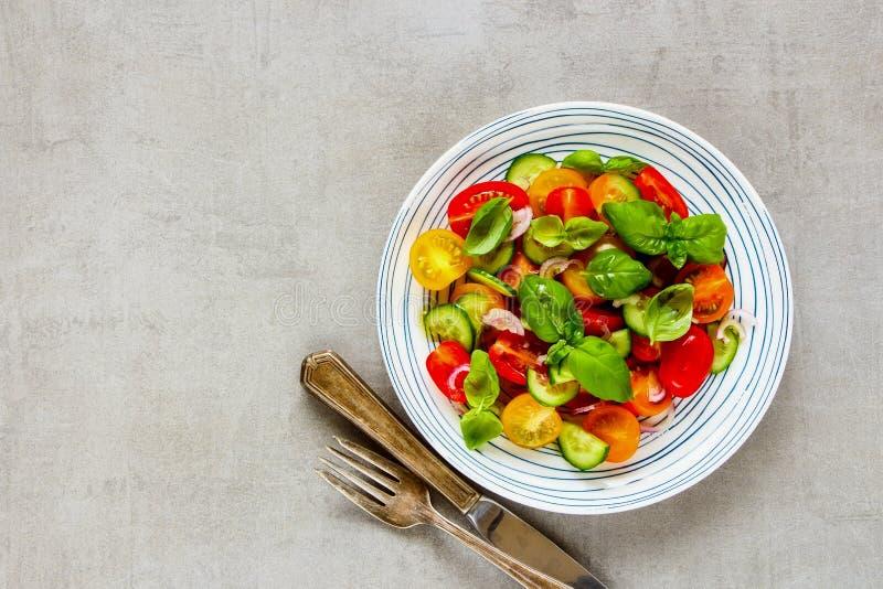 Gezonde Saladeplaat stock afbeelding