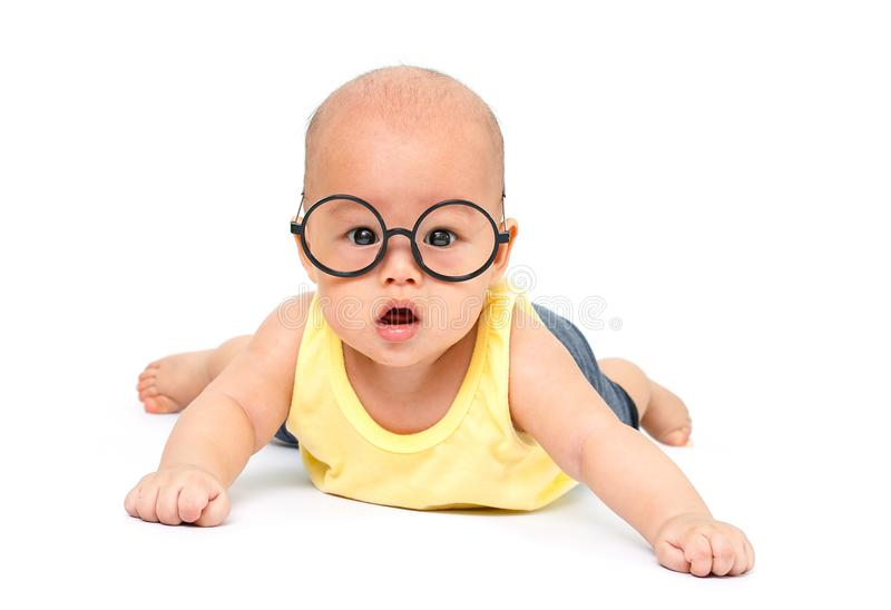 Gezonde slimme baby stock fotografie