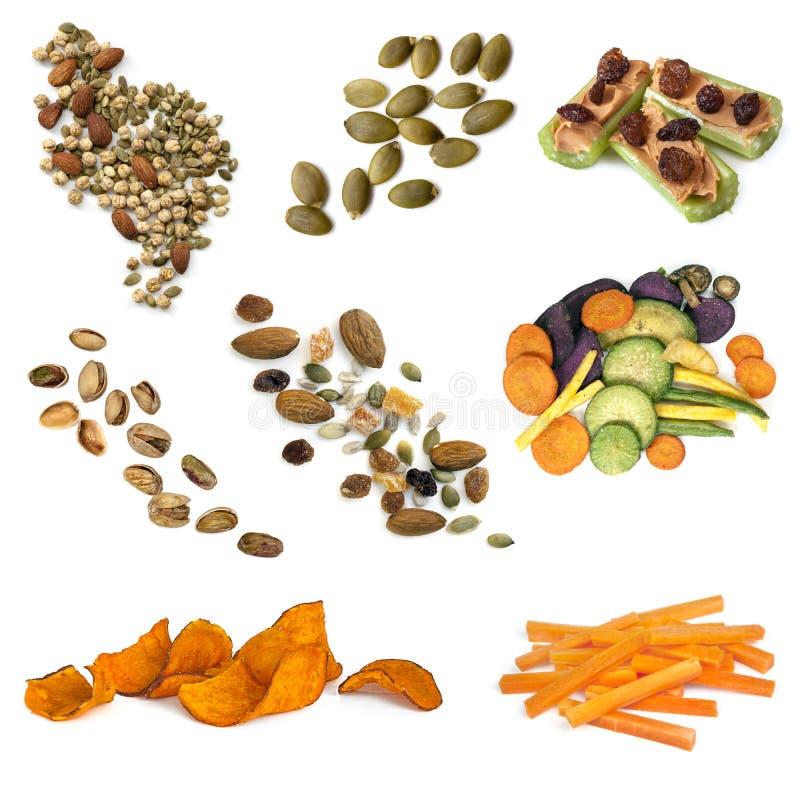 Gezonde Snacking-Voedselinzameling royalty-vrije stock afbeeldingen