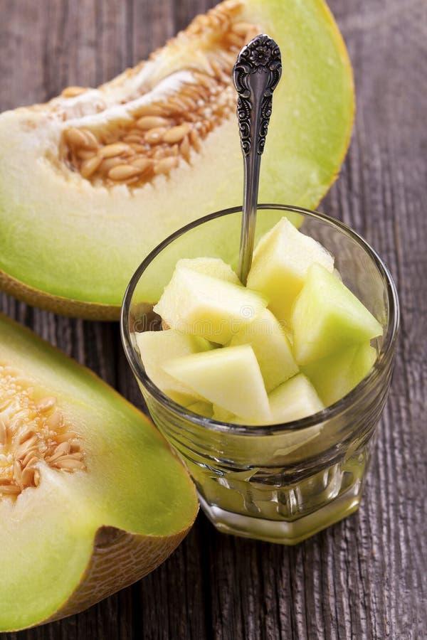 Gezonde snacks met meloen stock foto