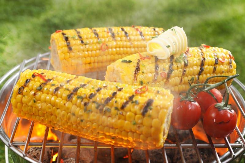 Gezonde vegetarische barbecue stock foto