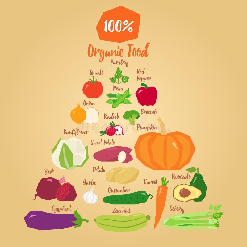 Gezonde vegetarische kokende concepten vectorillustratie stock illustratie