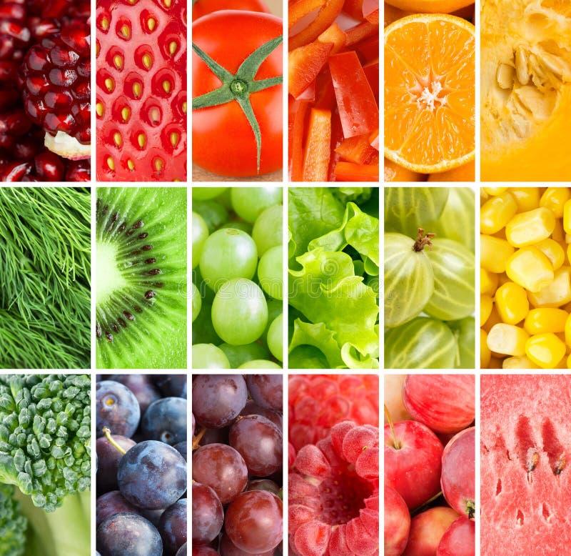 Gezonde verse voedselachtergrond royalty-vrije stock foto's