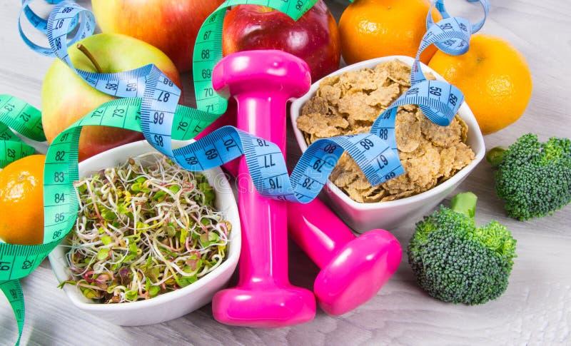 Gezonde voeding, gewichtsverlies - concept het gezonde eten royalty-vrije stock foto's