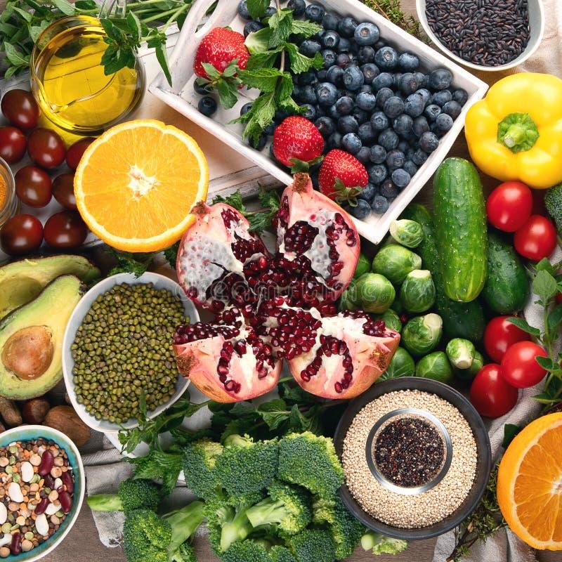 Gezonde voedingachtergrond Maak en detox etend schoon royalty-vrije stock afbeelding