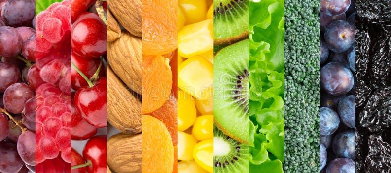Gezonde voedselachtergrond royalty-vrije stock foto