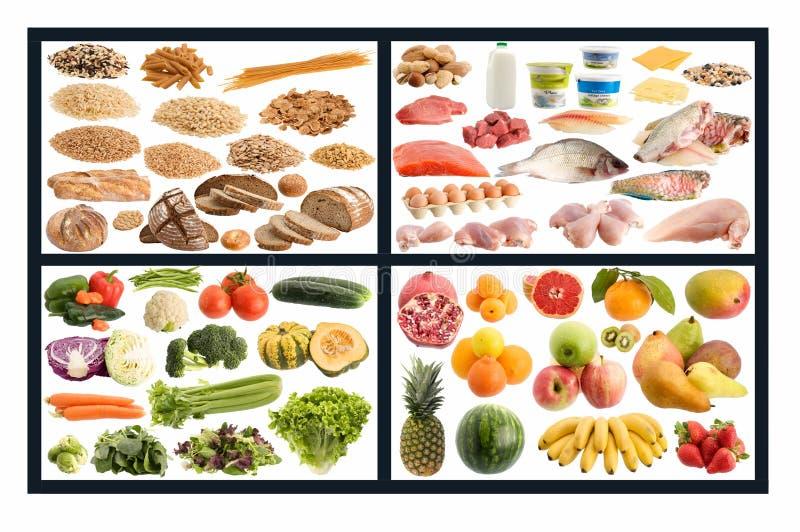 Gezonde voedselgids stock afbeeldingen