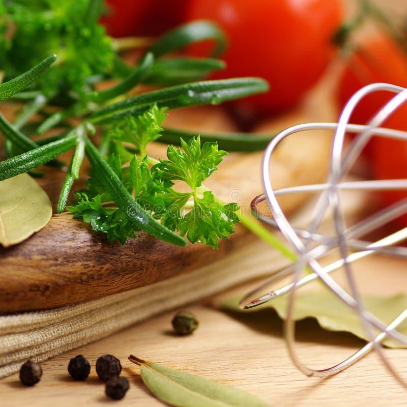Gezonde voedselingrediënten royalty-vrije stock afbeeldingen