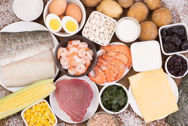 Gezonde voedselrijken in jodium royalty-vrije stock foto
