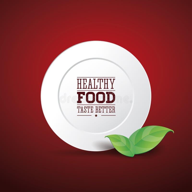 Gezonde voedselsmaak beter stock illustratie