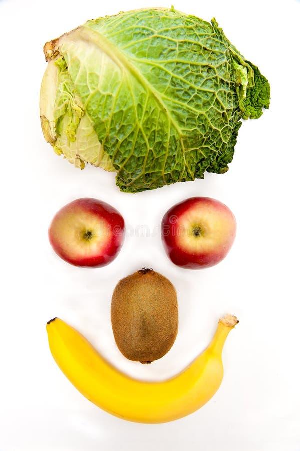 Gezonde vruchten en groente royalty-vrije stock afbeeldingen