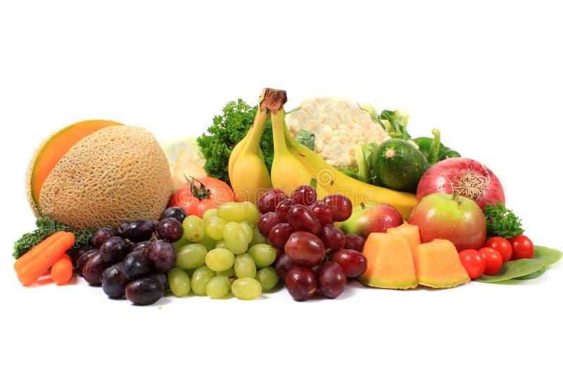 Gezonde vruchten en groenten stock afbeelding
