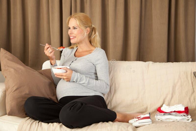 Gezonde zwangerschap stock afbeelding