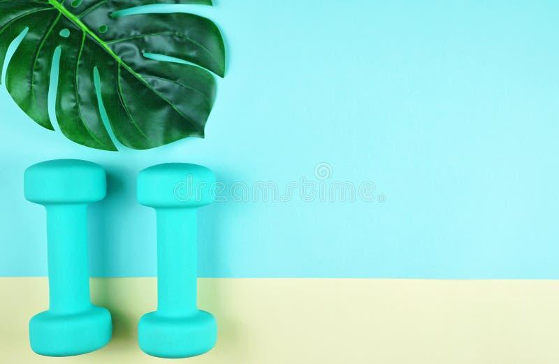 Gezondheid en geschiktheidsconcept op moderne kleurrijke achtergrond royalty-vrije stock afbeeldingen