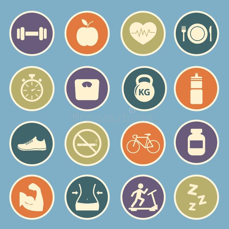 Gezondheid en Geschiktheidspictogram vector illustratie