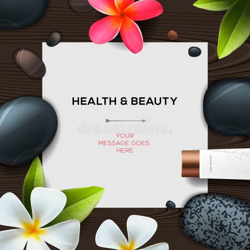 Gezondheid en schoonheidsmalplaatje royalty-vrije illustratie