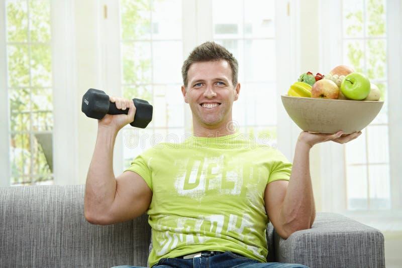 Gezondheid en spier stock foto's