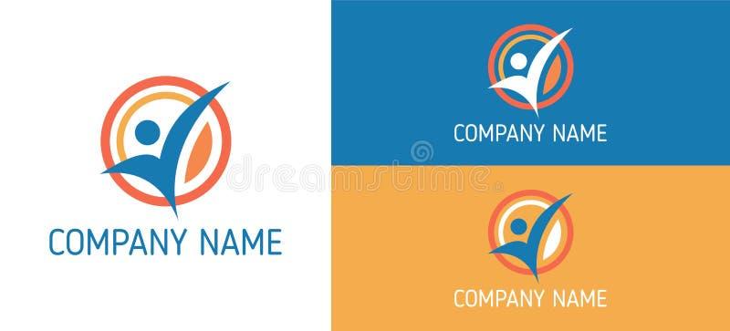 Gezondheid Logo Vector Template MENSENgezondheid logotype Kleuren vectorontwerpsjabloon vector illustratie