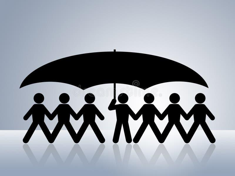 Gezondheid of sociale bescherming royalty-vrije illustratie