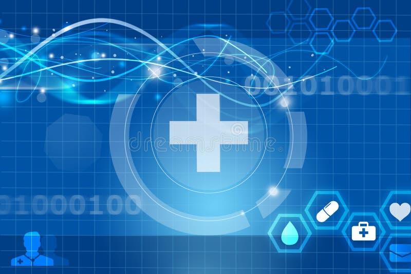 Gezondheid toekomstige medische app royalty-vrije illustratie