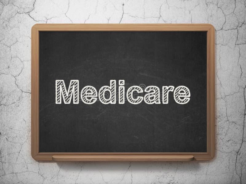 Gezondheidsconcept: Gezondheidszorg voor bejaarden op bordachtergrond stock illustratie