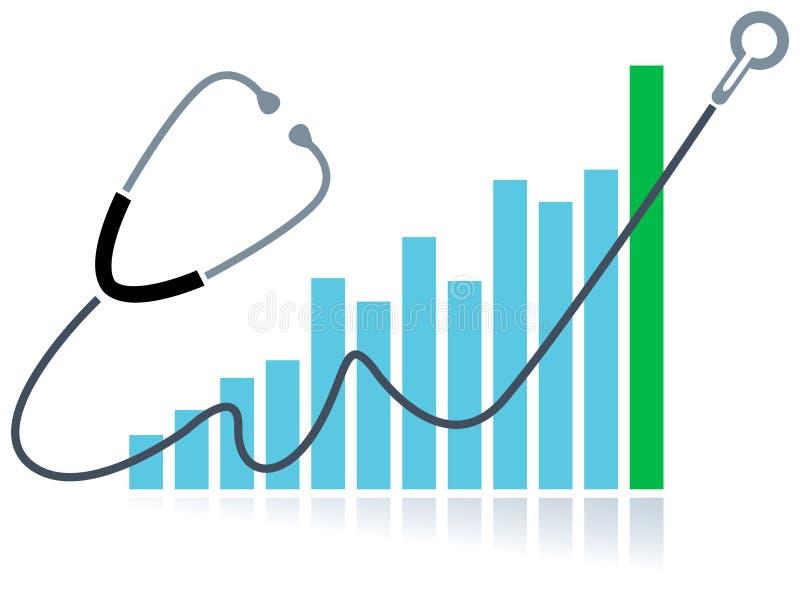 Gezondheidsgrafiek stock illustratie