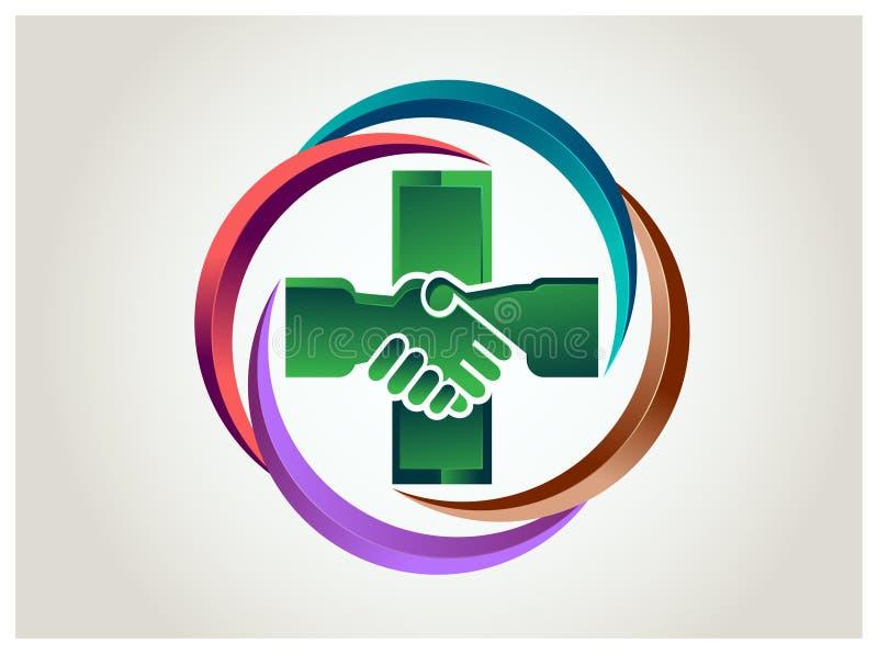 Gezondheidshulp stock illustratie