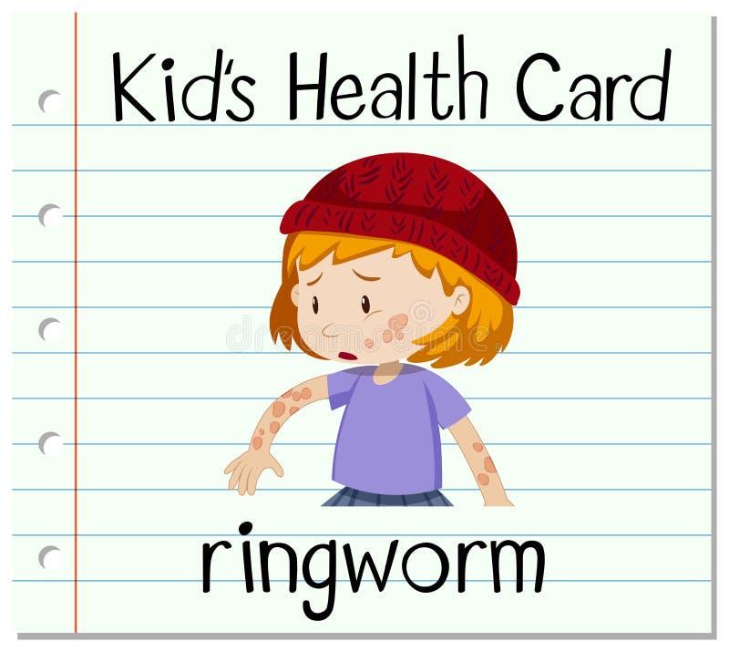 Gezondheidskaart met ringworm stock illustratie