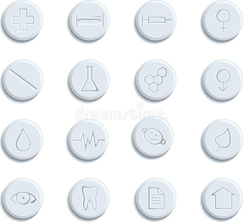 Gezondheidszorg & pictogrammen Pharma vector illustratie