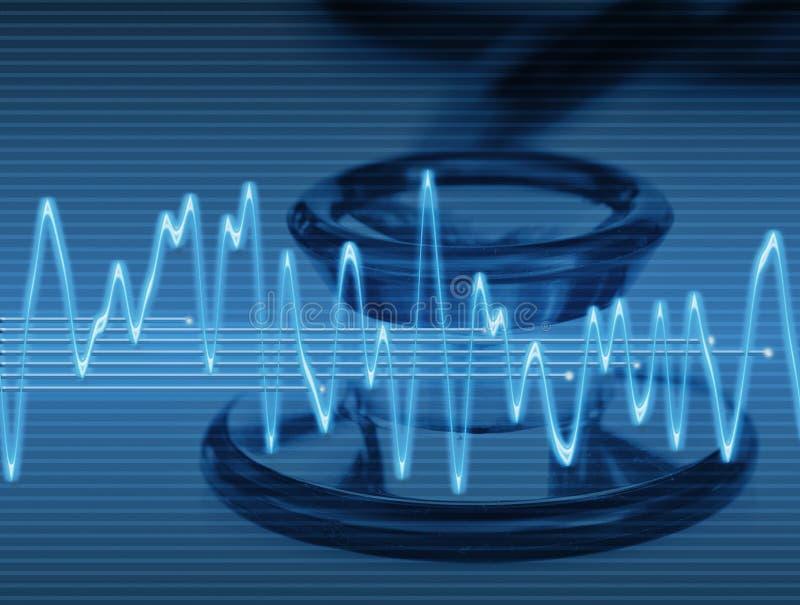 Gezondheidszorg in blauw stock illustratie