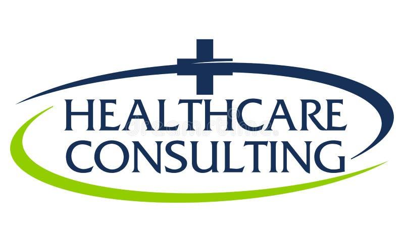 Gezondheidszorg die Logo Design Template raadplegen royalty-vrije illustratie