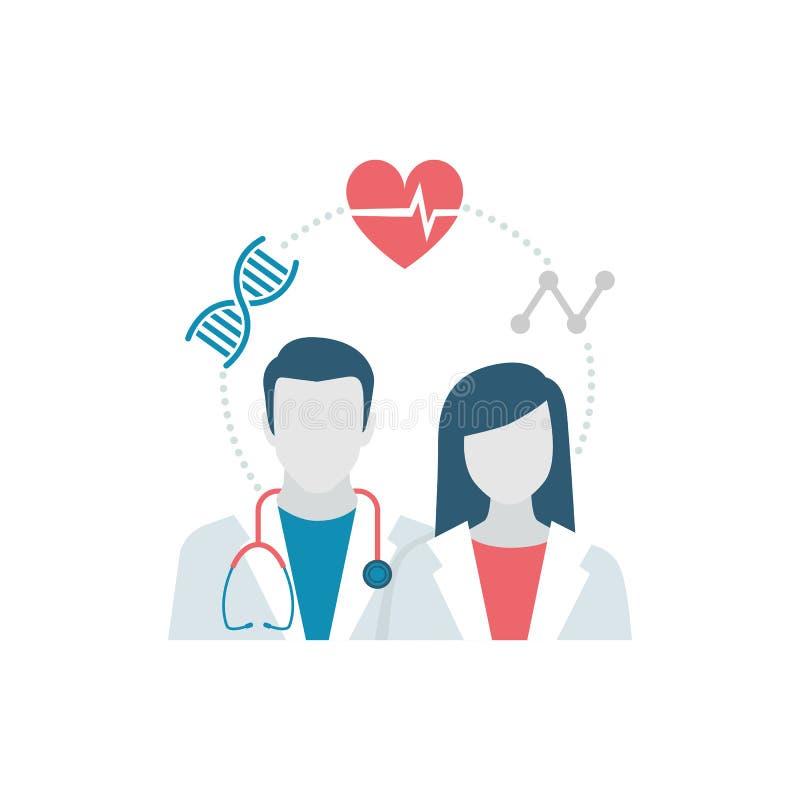 Gezondheidszorg en Geneeskunde vector illustratie