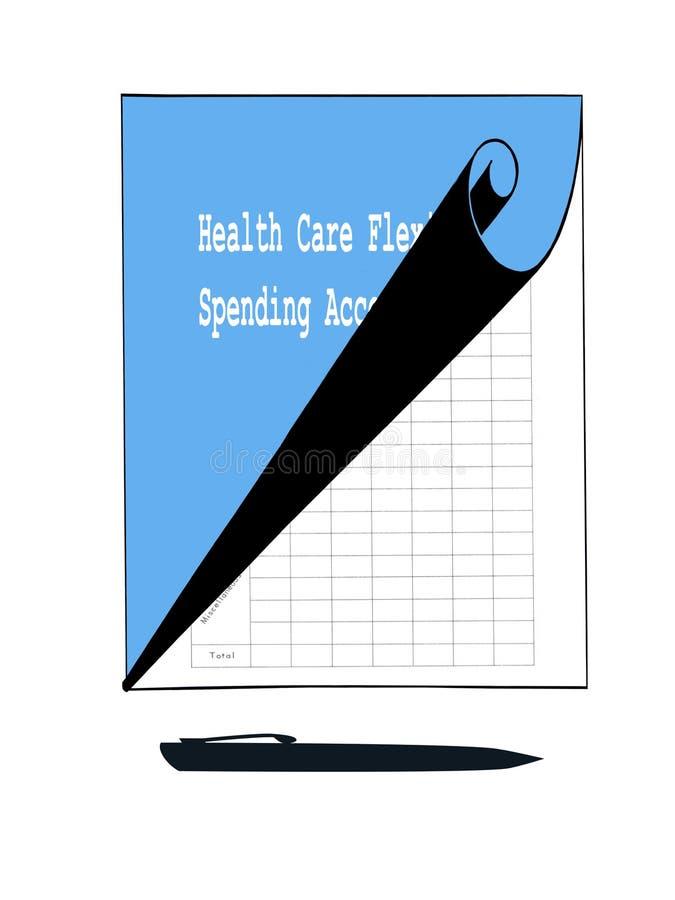 Gezondheidszorg het Besteden Rekening stock illustratie