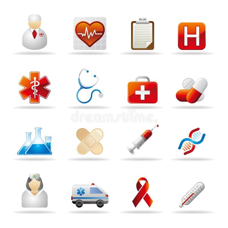 gezondheidszorg pictogram royalty-vrije illustratie