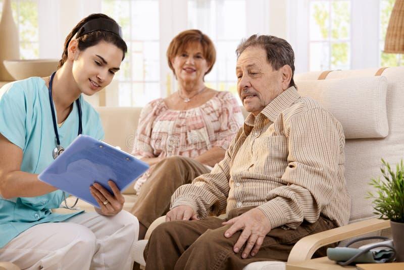 Gezondheidszorg thuis stock foto's