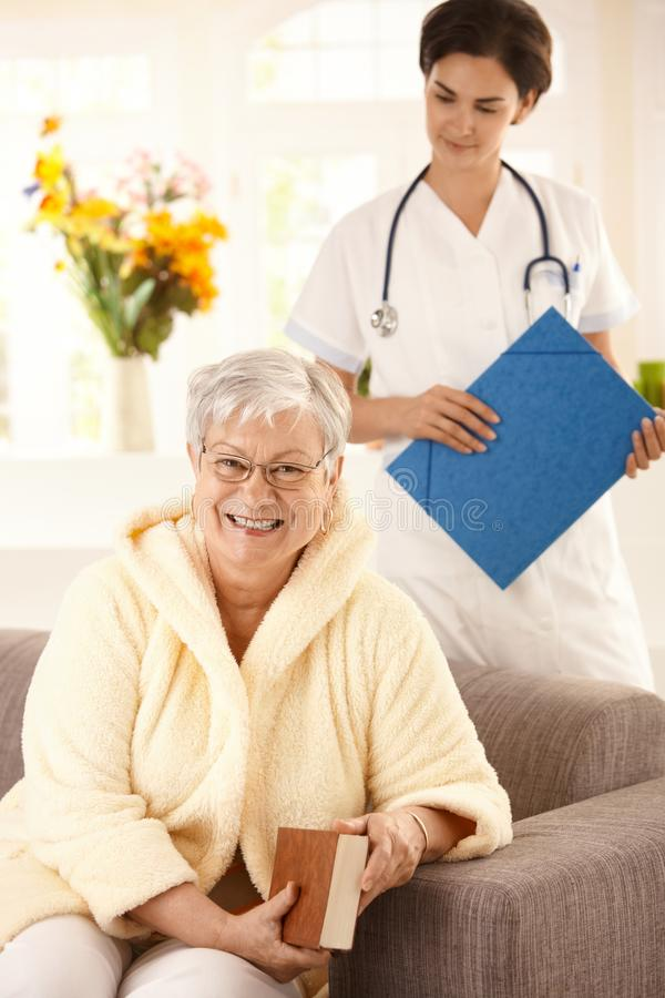 Gezondheidszorg thuis royalty-vrije stock foto