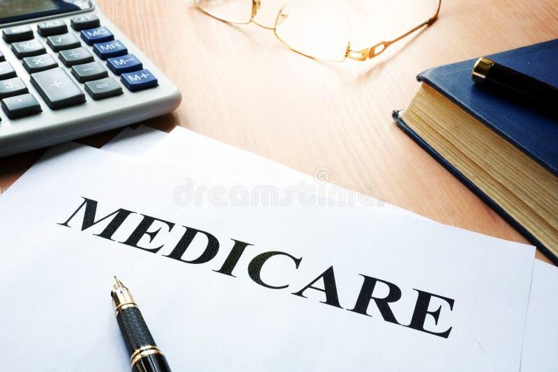 Gezondheidszorg voor bejaarden-beleid royalty-vrije stock afbeelding
