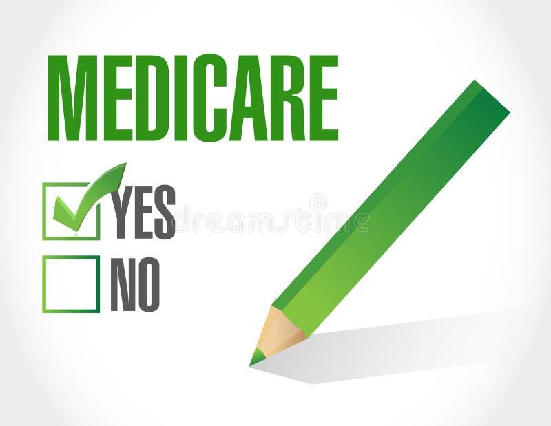 Gezondheidszorg voor bejaarden-de illustratie van het goedkeuringsteken royalty-vrije illustratie