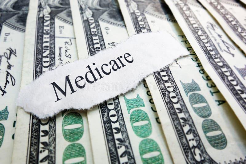 Gezondheidszorg voor bejaarden-geld stock afbeeldingen